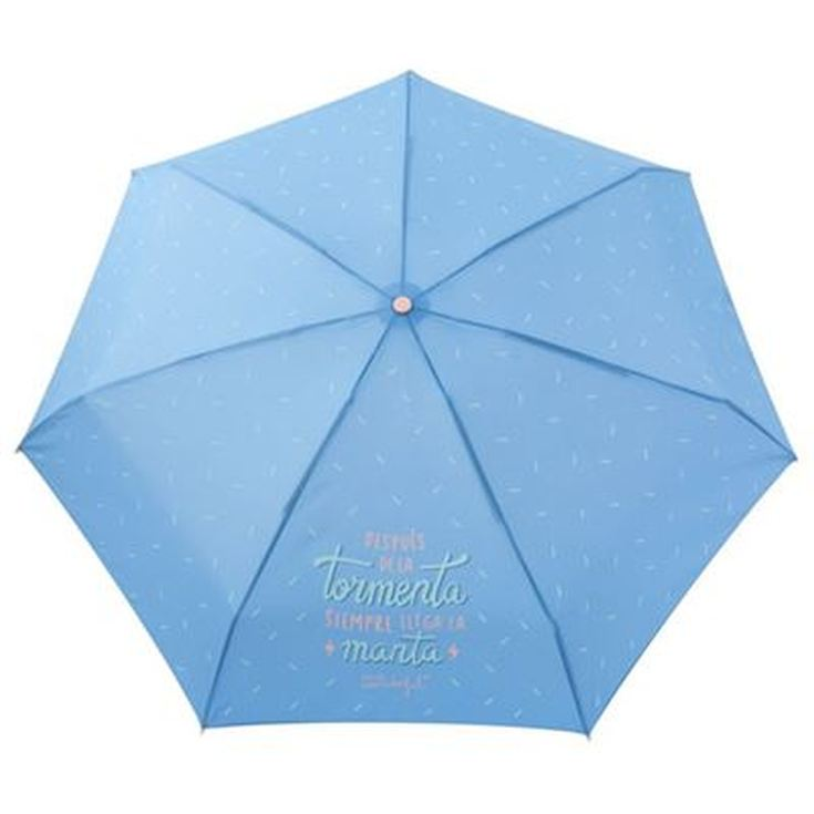 paraguas plegable manual mr. wonderful en funda neopreno 19cm diseños surtidos