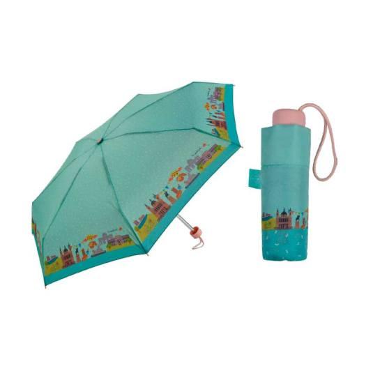 paraguas plegable pequeño lovely streets madrid 18cm