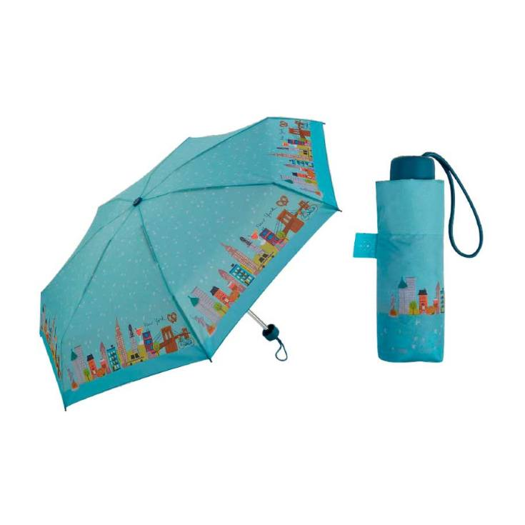 paraguas plegable pequeño lovely streets new york 18cm