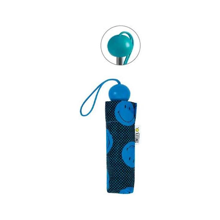 paraguas plegable manual mini smiley lunares 19cm diseños surtidos