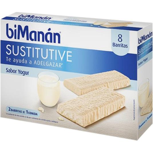 bimanan sustitutive barritas sabor yogur 8 unidades