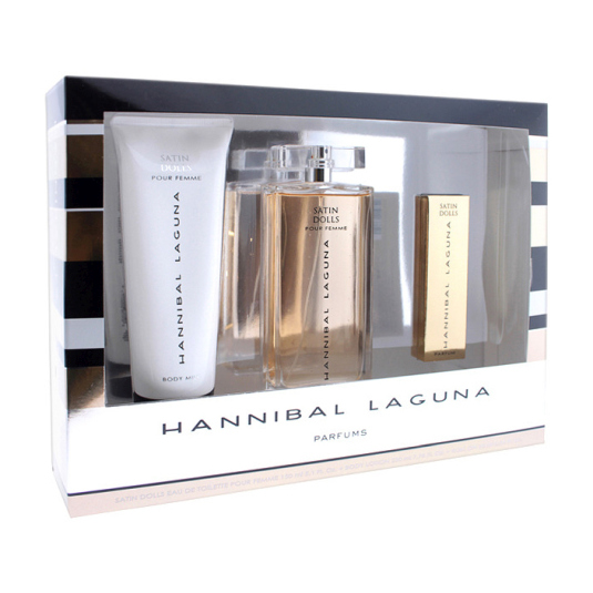 hannibal laguna satin dolls colonia 150ml estuche 3 piezas