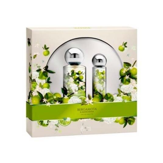 saphir flores bergamota edt 175ml estuche 2 piezas