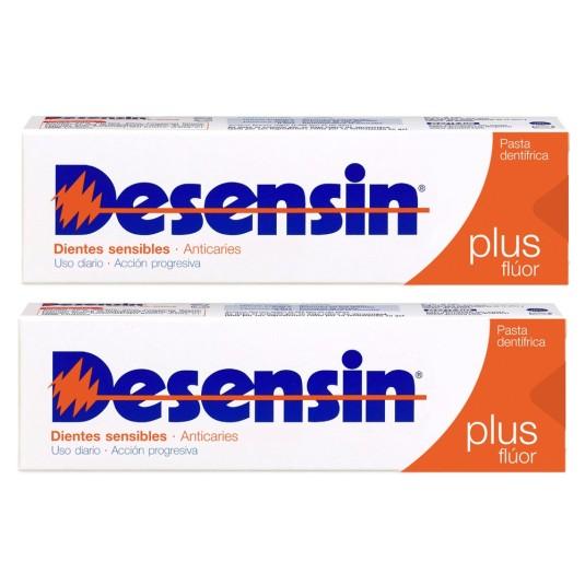 desensin plus flúor pasta dentífrica dientes sensibles 125ml+ 50ml.