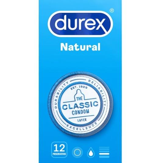durex natural preservativos 12 unidades
