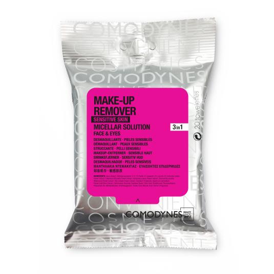 comodynes make-up remover toallitas desmaquillantes micelares piel sensible 20ud