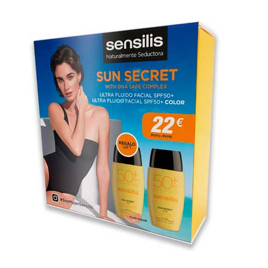 sensilis sun secret pack ultra fluido facial solar spf50+ultra fluido facial solar color