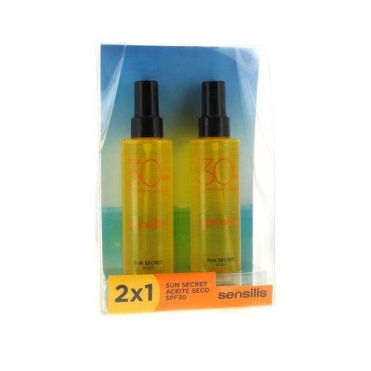 sensilis sun secret gel aceite activador bronceado spf30+ duplo 2x200ml