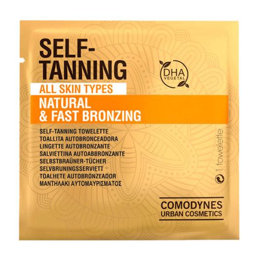 comodynes self-tanning natural & fast brozing toallitas autobronceadoras piel normal 8ud