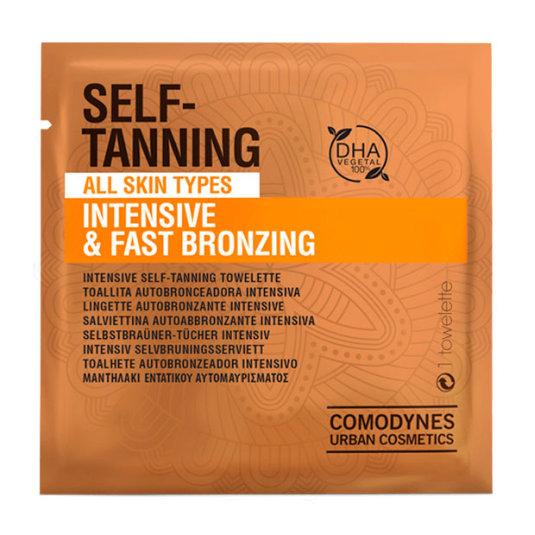 comodynes self-tanning intensive & fast brozing toallitas autobronceadoras piel normal 8ud