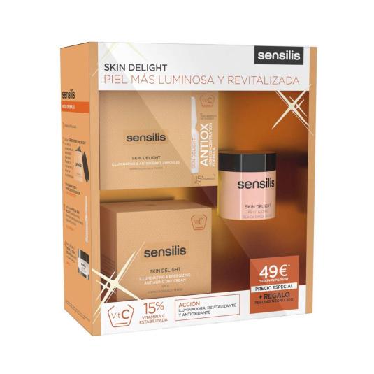 sensilis skin delight set de belleza con vitamina c set regalo 3 piezas