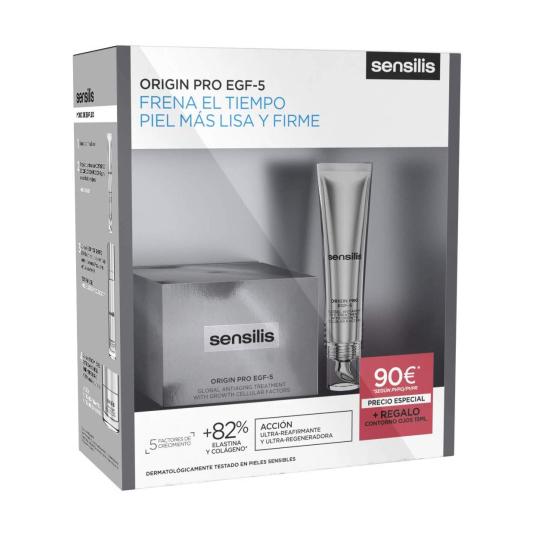 sensilis origin pro egf-5 crema antiedad 50 ml set belleza antiedad 4 piezas