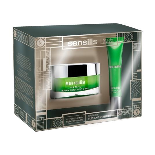 sensilis supreme renewal crema de noche 50ml set 2 piezas