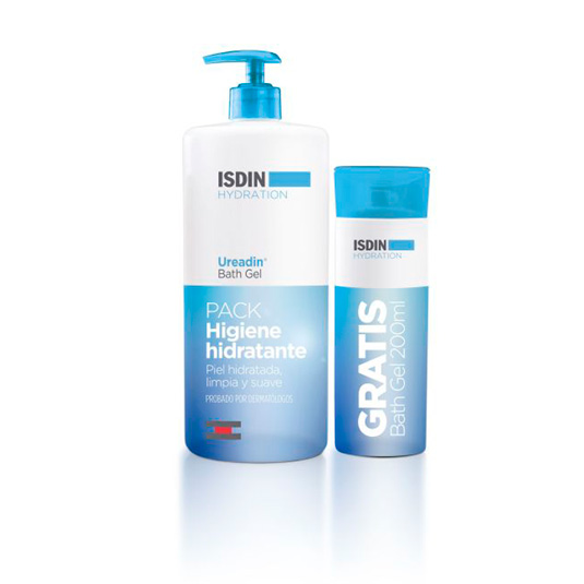 isdin ureadin gel de baño 1000ml + mini gel 200 ml gratis