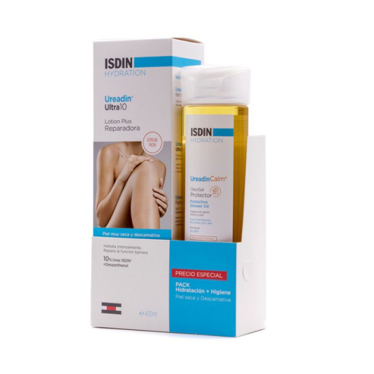 isdin hydratation ureadin ultra10 locion 400ml+ ureadincalm gel protector 200ml