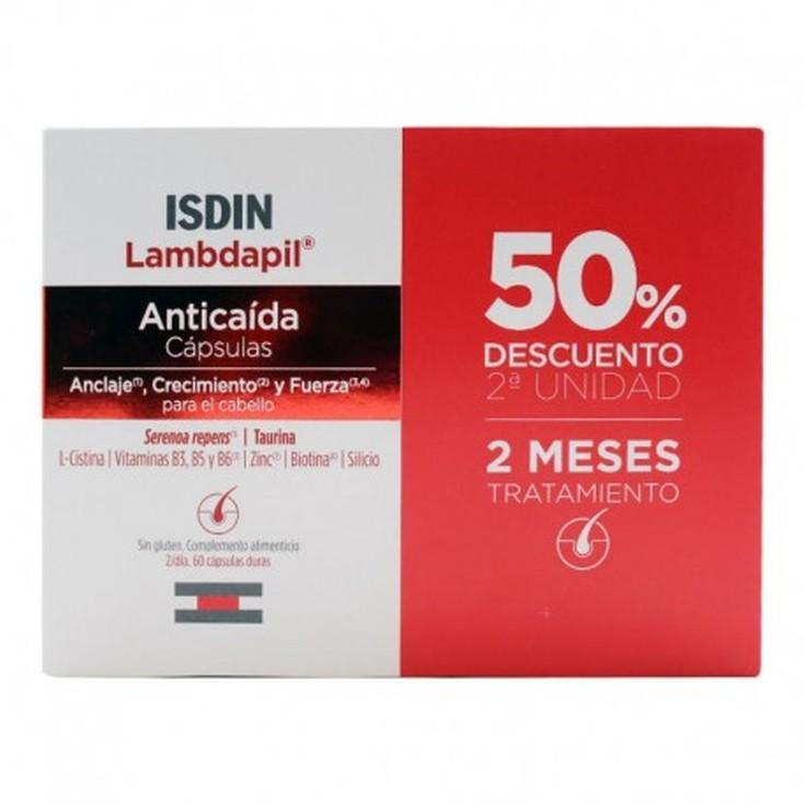 isdin lambdapil tratamiento antiácida duplo 60+60 cápsulas