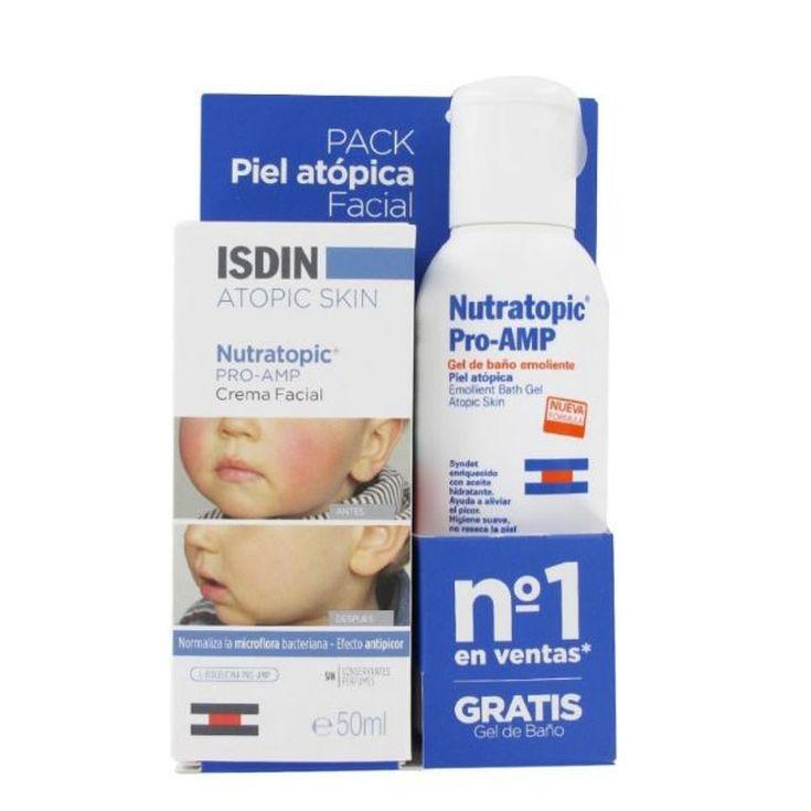 isdin nutratopic pro-amp crema facial infantil piel atópica+gel 100ml