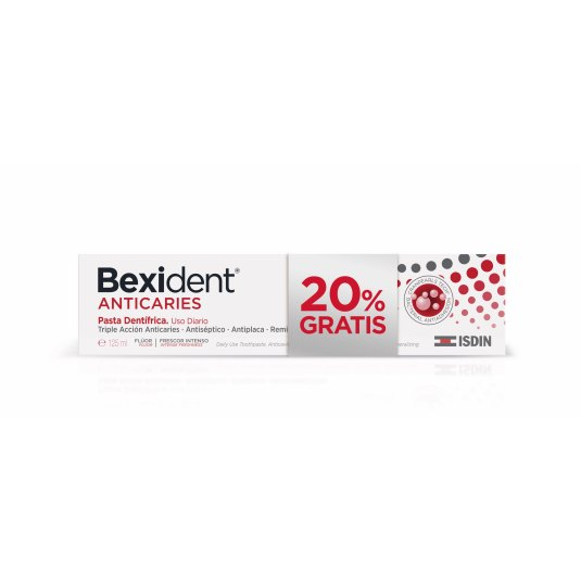 ISDIN PACK BEXIDENT PASTA ANTICARIES 125g + 20% GRATIS