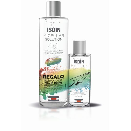 isdin micellar solution 4 en 1400ml+100ml gratis