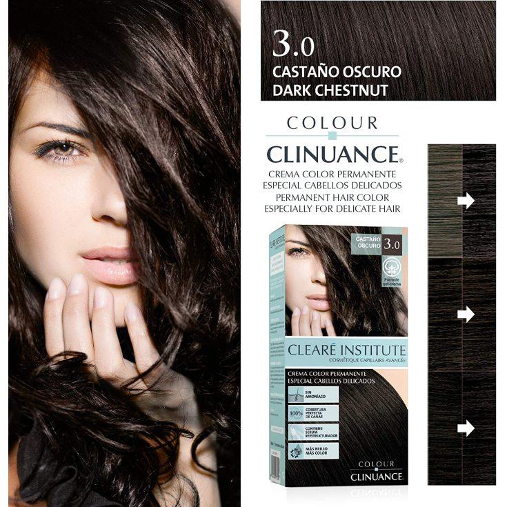 colour clinuance tinte cabellos delicados 3.0 castaño oscuro