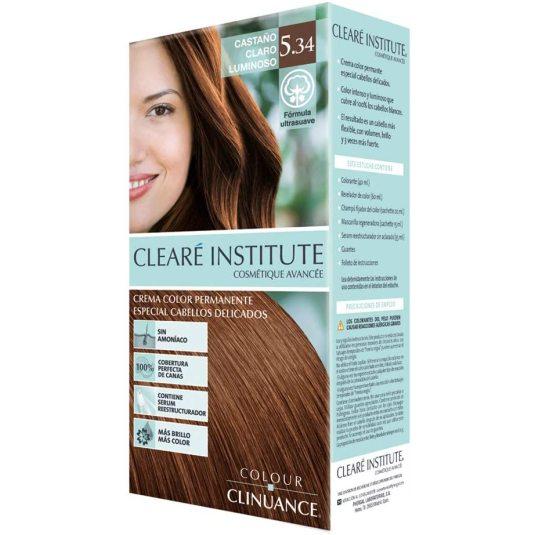 colour clinuance tinte cabellos delicados 5.34 castaño claro luminoso