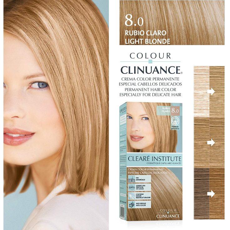 colour clinuance tinte cabellos delicados 8.0 rubio claro