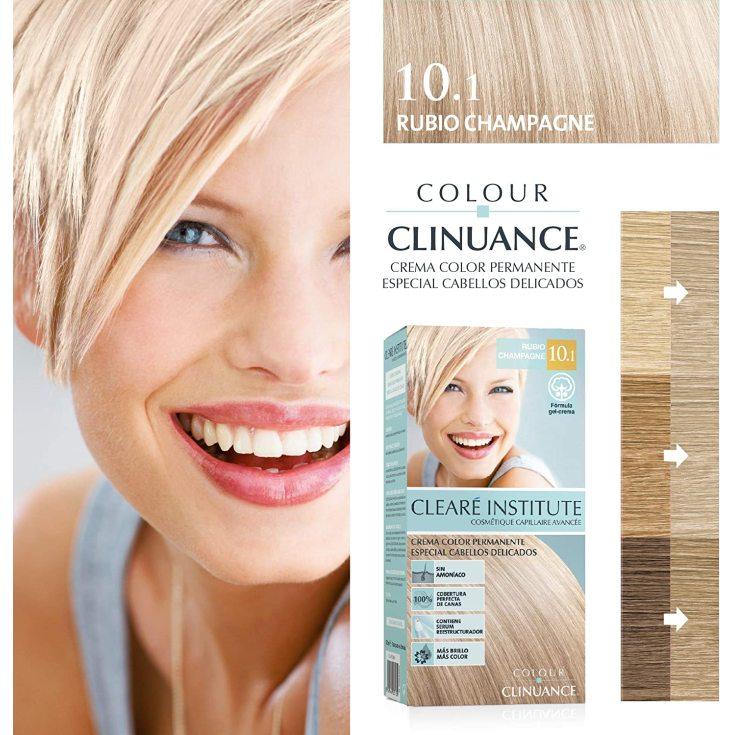 colour clinuance tinte cabellos delicados 10.1 rubio champagne