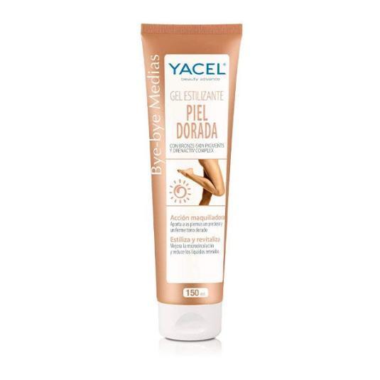 yacel bye-bye medias gel estilizante piel dorada 150ml