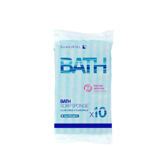 suavipiel esponja de baños jabonosas desechable 10uds
