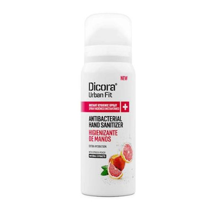 dicora citrus&peach higienizante manos spray 70% alcohol 75ml