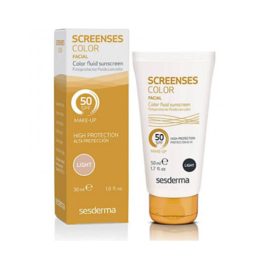 sesderma screenses fotoportector facial fluido con color brown spf50