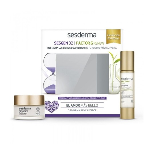 SESDERMA SESGEN 32 CREMA 50ML. + FACTOR G ÓVALO Y CUELLO 50ML SET
