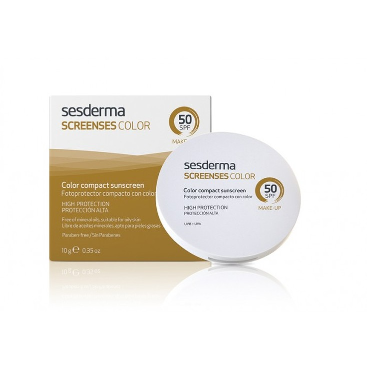 sesderma screenses fotoprotector facial color brown spf50
