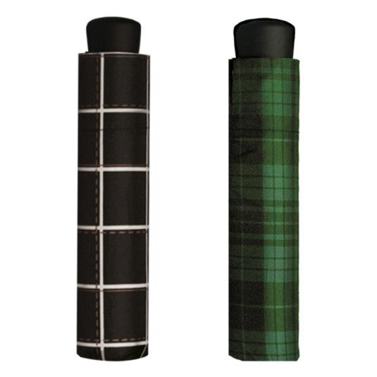 paraguas mini aluminio de bolsillo cuadros escoceses surtidos