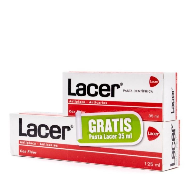 lacer pasta de dienytes 125ml+ mini 35ml gratis