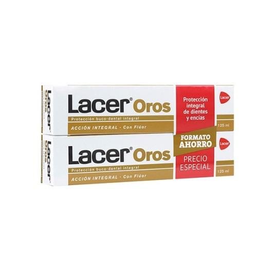 lacer oros pasta de dientes accion integral duplo 2x125ml