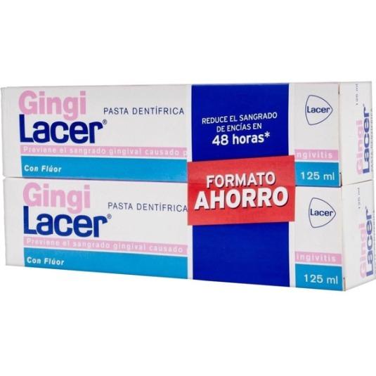 lacer gingilacer pasta de dientes duplo 2x125ml