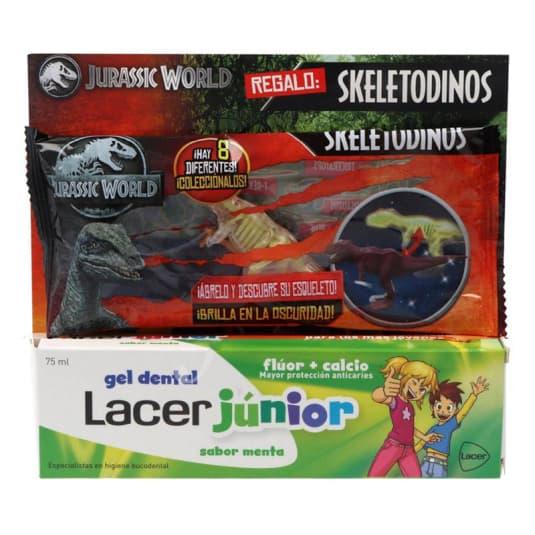 lacer gel junior menta 75 ml+ regalo skeletodinos jurassic world