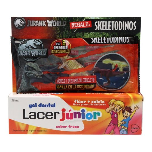 lacer gel fresa junior 75 ml+ regalo skeletodinos jurassic world