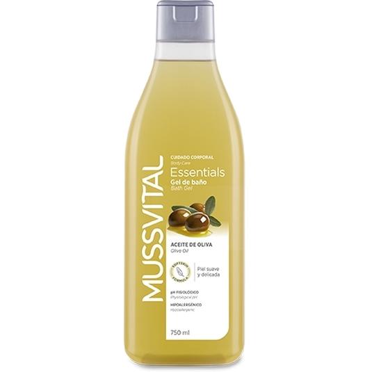 mussvital gel de baño aceite de oliva dosificador 750ml