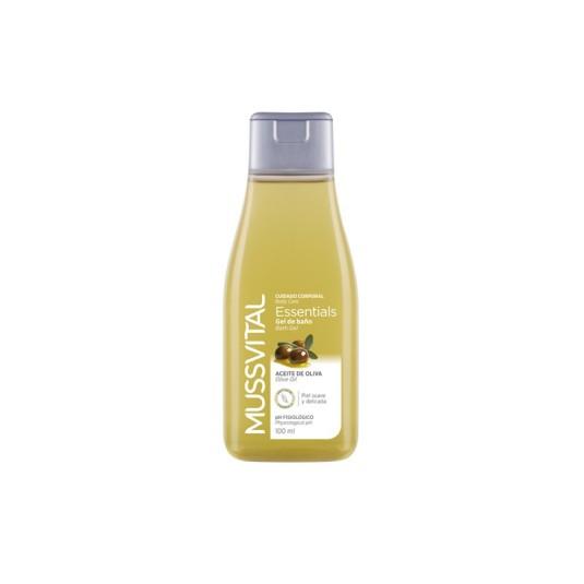 mussvital gel de baño aceite de oliva 100ml