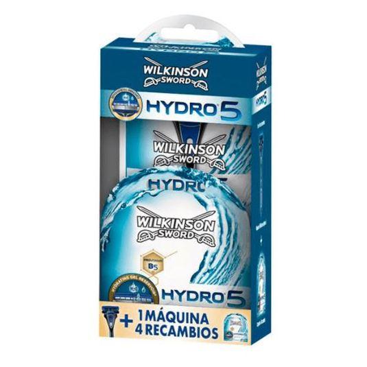 wilkinson hydro 5 sensitive orange maquinilla de afeitar+cargador de 4 cuchillas de afeitar set