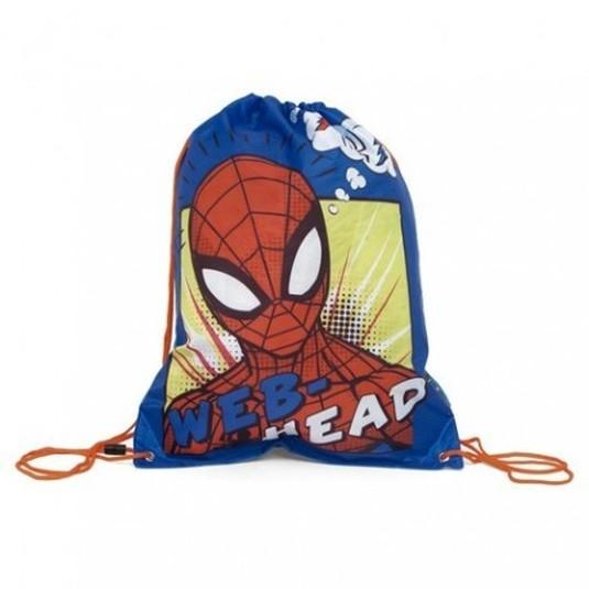 saco mochila gymbag spiderman marvel 44x33cm.