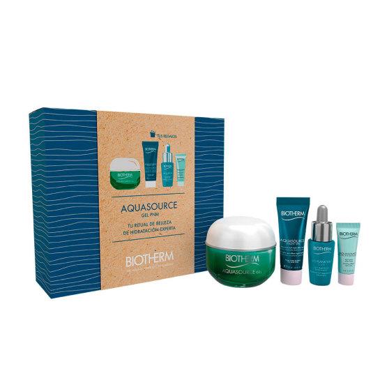 biotherm aquasource gel hidratante gel piel normal-mixta 50ml cofre 4 piezas