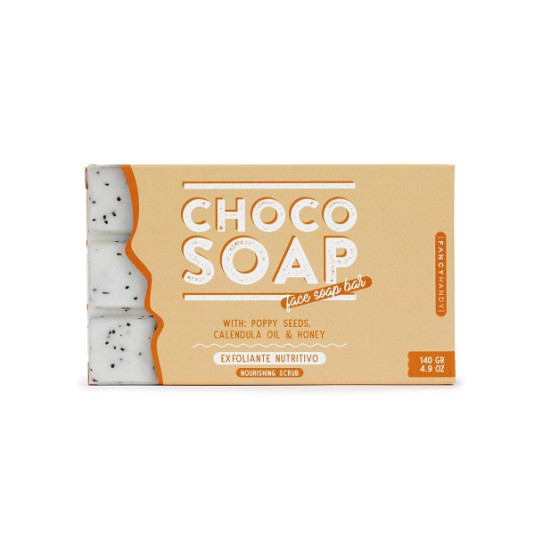fancy handy jabón choco-honey exfoliante nutritivo 150ml