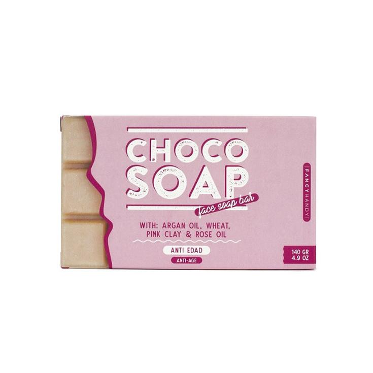fancy handy jabón choco- pink clay anti-edad 150ml