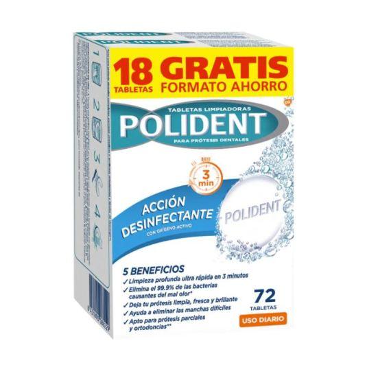 polident tabletas limpiadores protesis dentales accion desinfectante pack ahorro 75uds