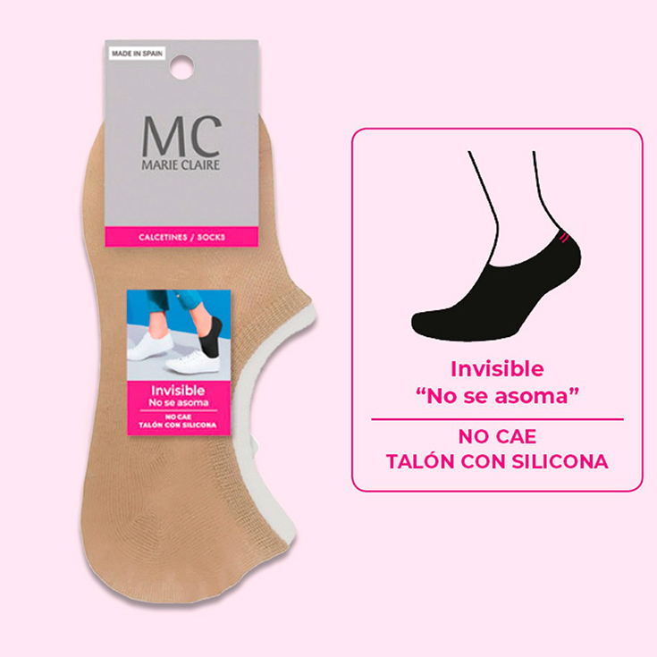 marie claire calcetin invisible beige