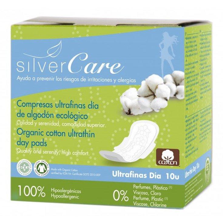 silvercare compresas ultrafinas dia con alas 10 unidades