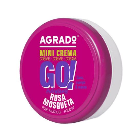 agrado go! crema hidratante corporal rosa mosqueta 50ml